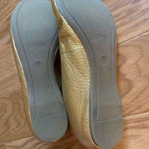 J. Crew Shoes - J Crew Anya Gold Ballet Flat size 8
